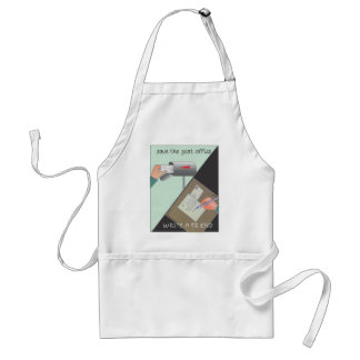 Save the Post Office/ Write a Friend Adult Apron