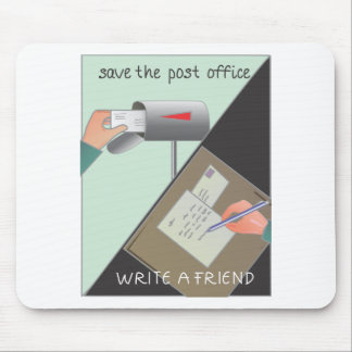 Save the Post Office/ Write a Friend Mousepads