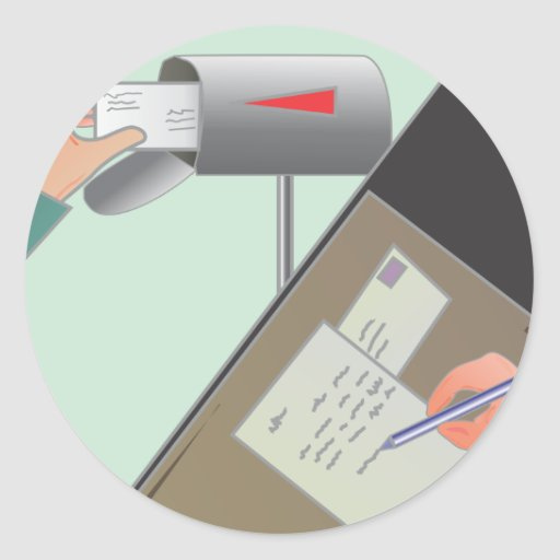 Save the Post Office/ Write a Friend Sticker