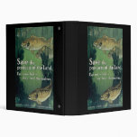 Save The Products Of The Land Eat More Fish 3 Ring Binders