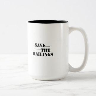 SAVE THE RAILINGS! Two-Tone COFFEE MUG