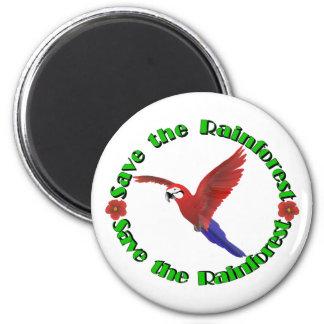Save the Rainforest 2 Inch Round Magnet