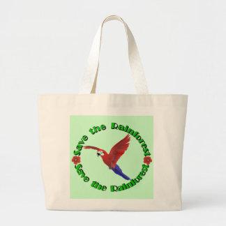 Save the Rainforest Jumbo Tote Bag