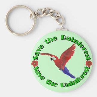 Save the Rainforest Basic Round Button Keychain