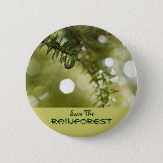 Save the Rainforest Button