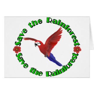 Save the Rainforest Greeting Card