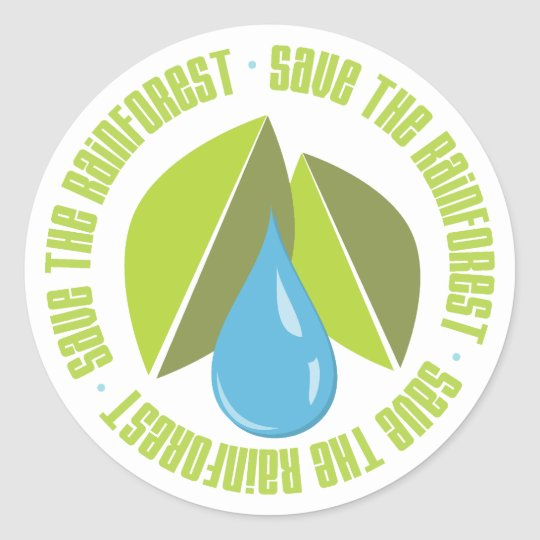 Save the Rainforest Earth Day Tees and Gifts Classic Round Sticker