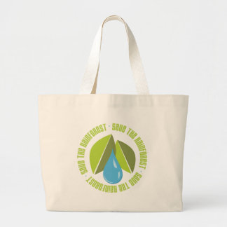 Save the Rainforest Earth Day Tees and Gifts Large Tote Bag
