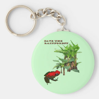 Save the Rainforest Keychain