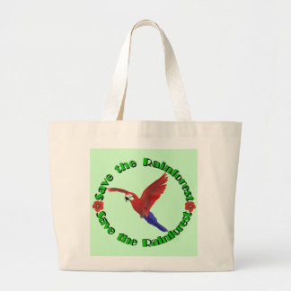 Save the Rainforest Large Tote Bag