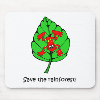Save the rainforest mouse pad