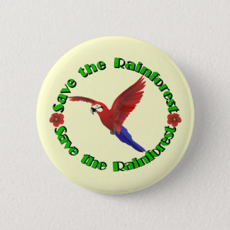 Save the Rainforest Pinback Button