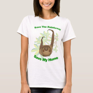Save The Rainforest Sloth T-Shirt