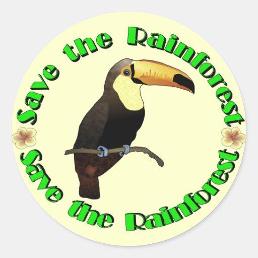 Save the Rainforest Sticker