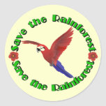 Save the Rainforest Stickers