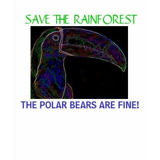 Save the Rainforest? T-Shirt Toucan shirt