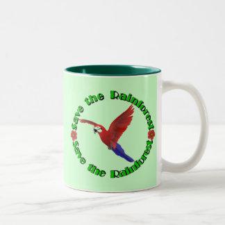 Save the Rainforest Two-Tone Coffee Mug
