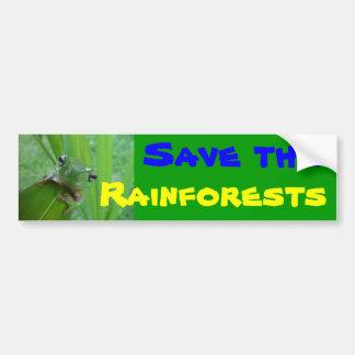 save the rainforests bumper sticker