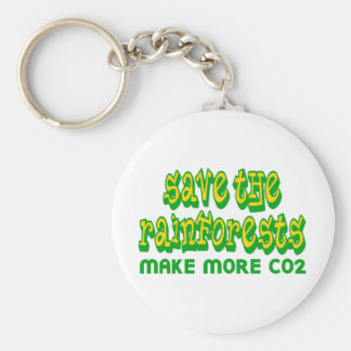 Save The Rainforests Make More CO2 Keychains
