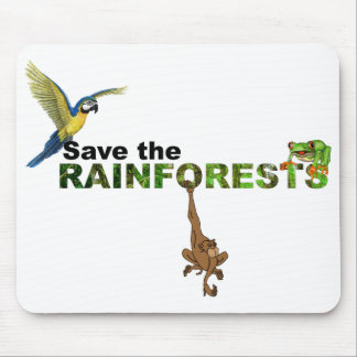 Save the Rainforests Mouse Pad