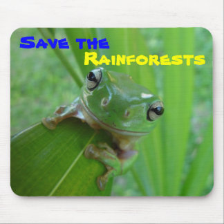 save the rainforests mousepad