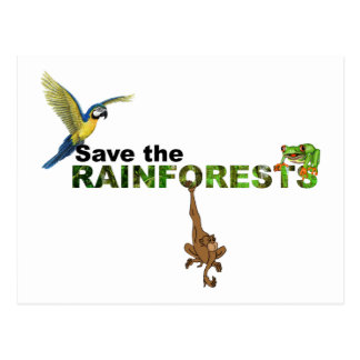 Save the Rainforests Postcard