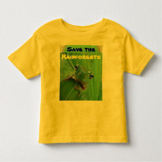 save the rainforests toddler shirt