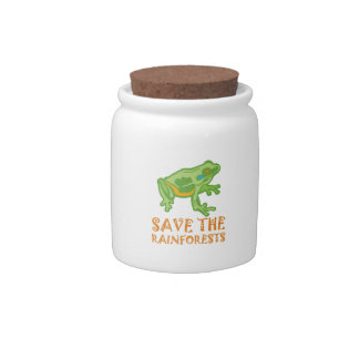 save-the-rainforests Tree Frog Candy Jar