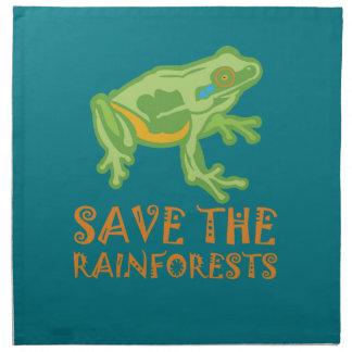 save-the-rainforests Tree Frog Cloth Napkin