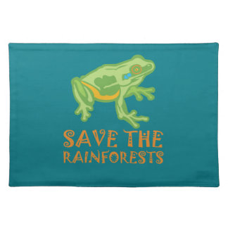save-the-rainforests Tree Frog Cloth Placemat