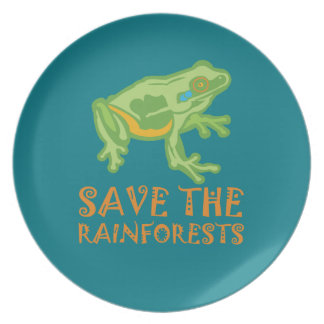 save-the-rainforests Tree Frog Dinner Plate