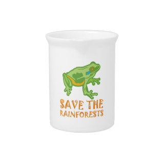 save-the-rainforests Tree Frog Drink Pitcher