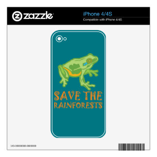 save-the-rainforests Tree Frog Skin For iPhone 4S