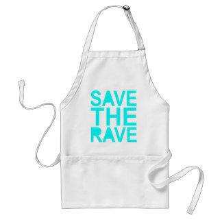 Save the rave blue NU Rave raver UK dance 80s Adult Apron
