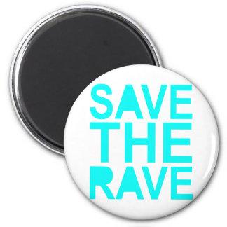 Save the rave blue NU Rave raver UK dance 80s Magnet