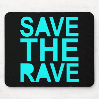 Save the rave blue NU Rave raver UK dance 80s Mouse Pad