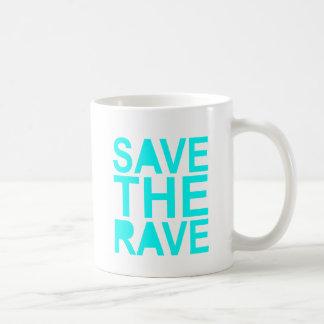 Save the rave blue NU Rave raver UK dance 80s Coffee Mugs