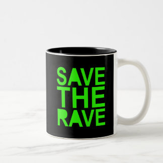 Save the rave green NU RAVE raver 80s scene Coffee Mugs