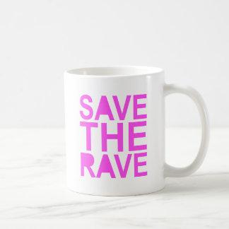 SAVE THE RAVE purple Coffee Mugs