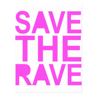 SAVE THE RAVE purple Postcard