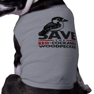 Save the Red-cockaded Woodpecker Dog Tee Shirt