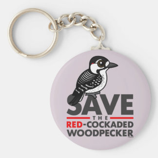 Save the Red-cockaded Woodpecker Keychain