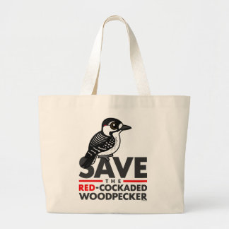 Save the Red-cockaded Woodpecker Large Tote Bag