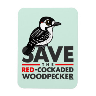 Save the Red-cockaded Woodpecker Magnet
