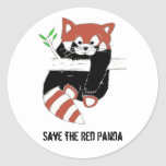 Save the Red Panda aka FireFox Classic Round Sticker