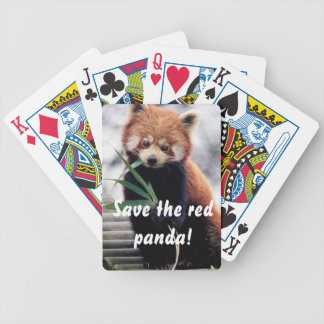 Save the Red Panda Playing Cards
