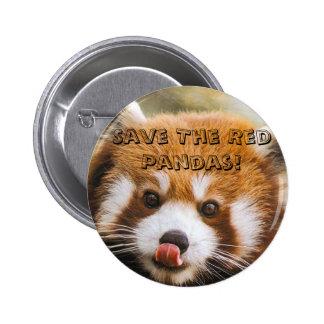 Save The Red Pandas Pin