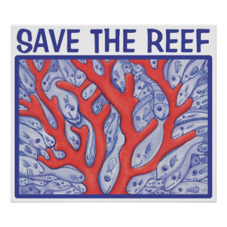 Save the Reef Happy Fish Poster