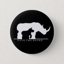 Save The Rhino Button