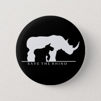Save The Rhino Button